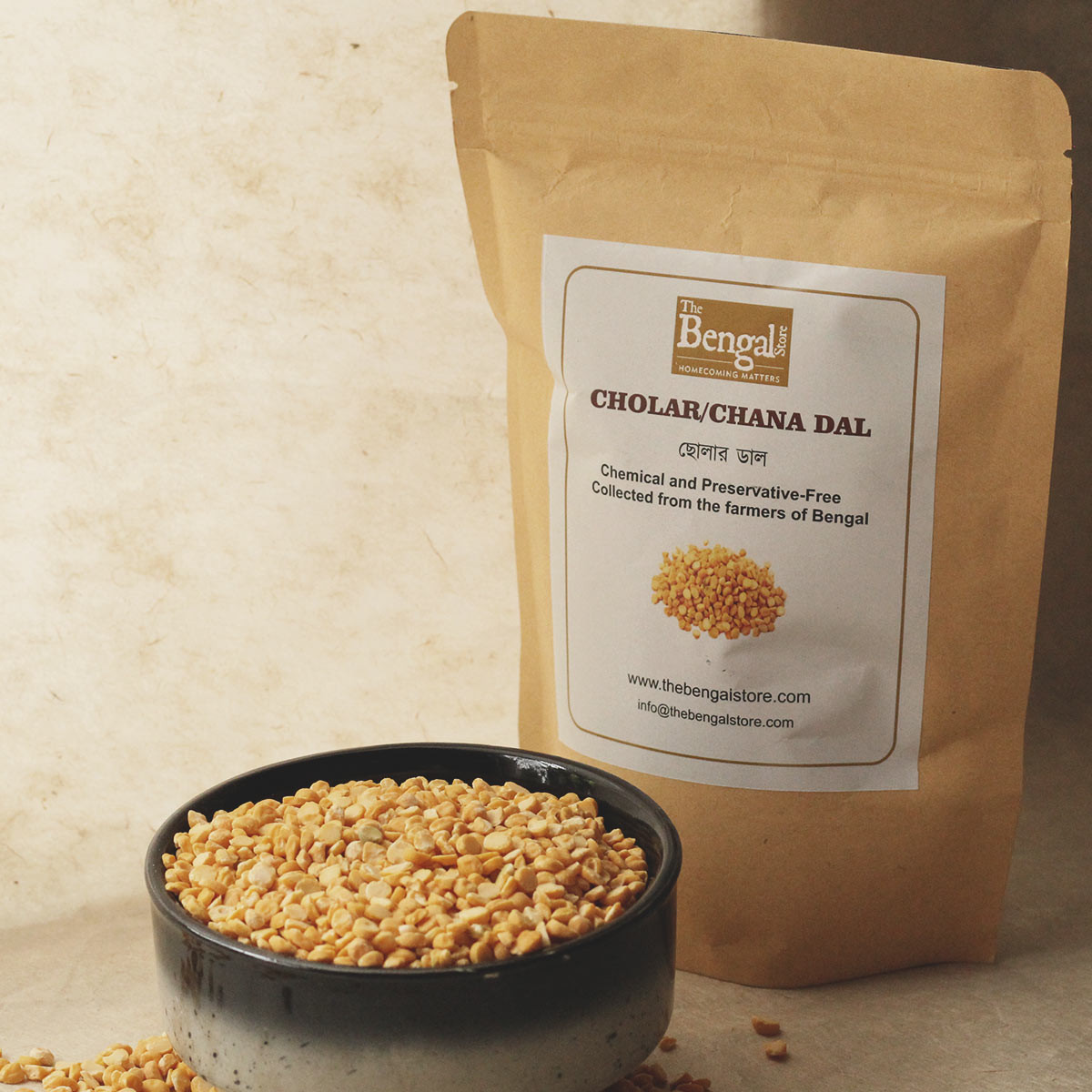 Chola Dal / Chana Dal (500g)- Chemical and Preservative-free
