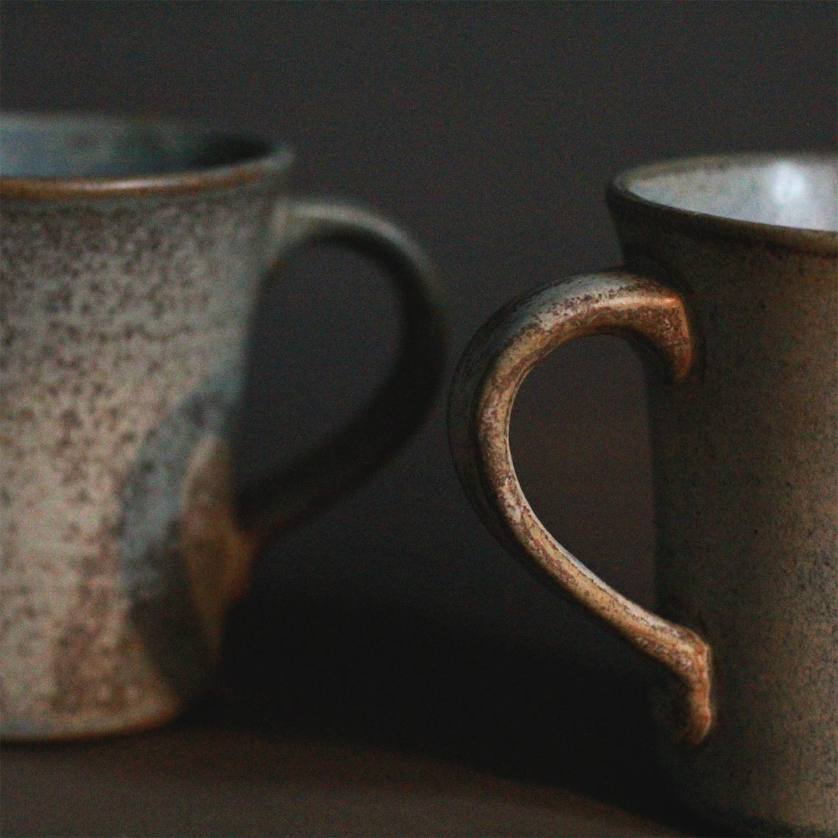 Textured Ceramic Coffee Mugs (Set of 2)