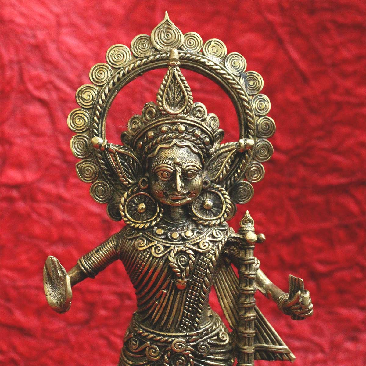 Dokra Goddess Saraswati