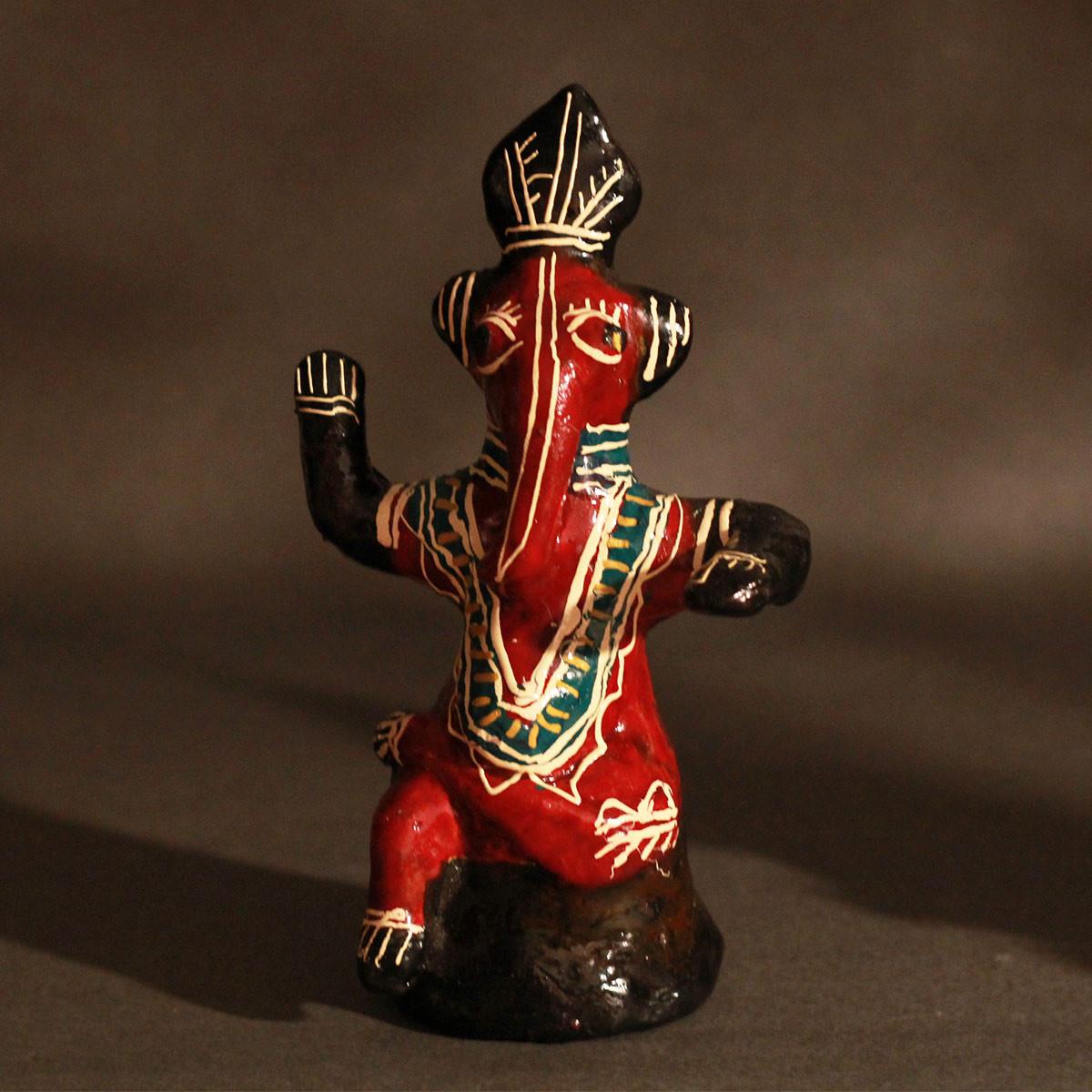 Galar Putul / Shellac Dolls- Set of 3 Shri Ganesha Figures
