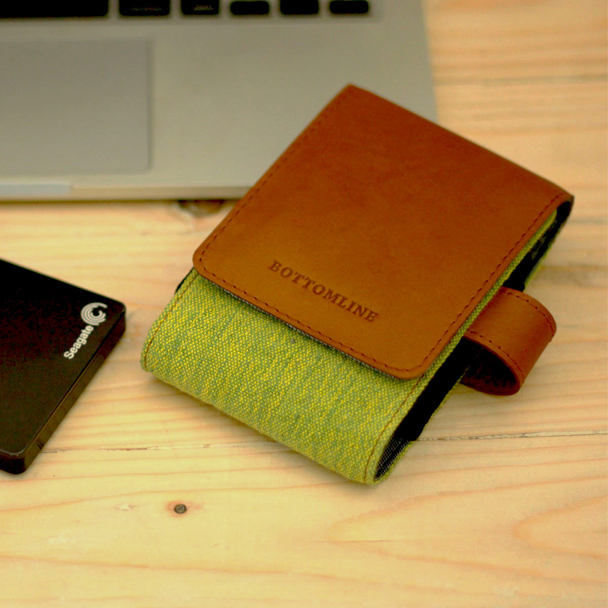 Leather and Juco Hard Disk Cases (Green)