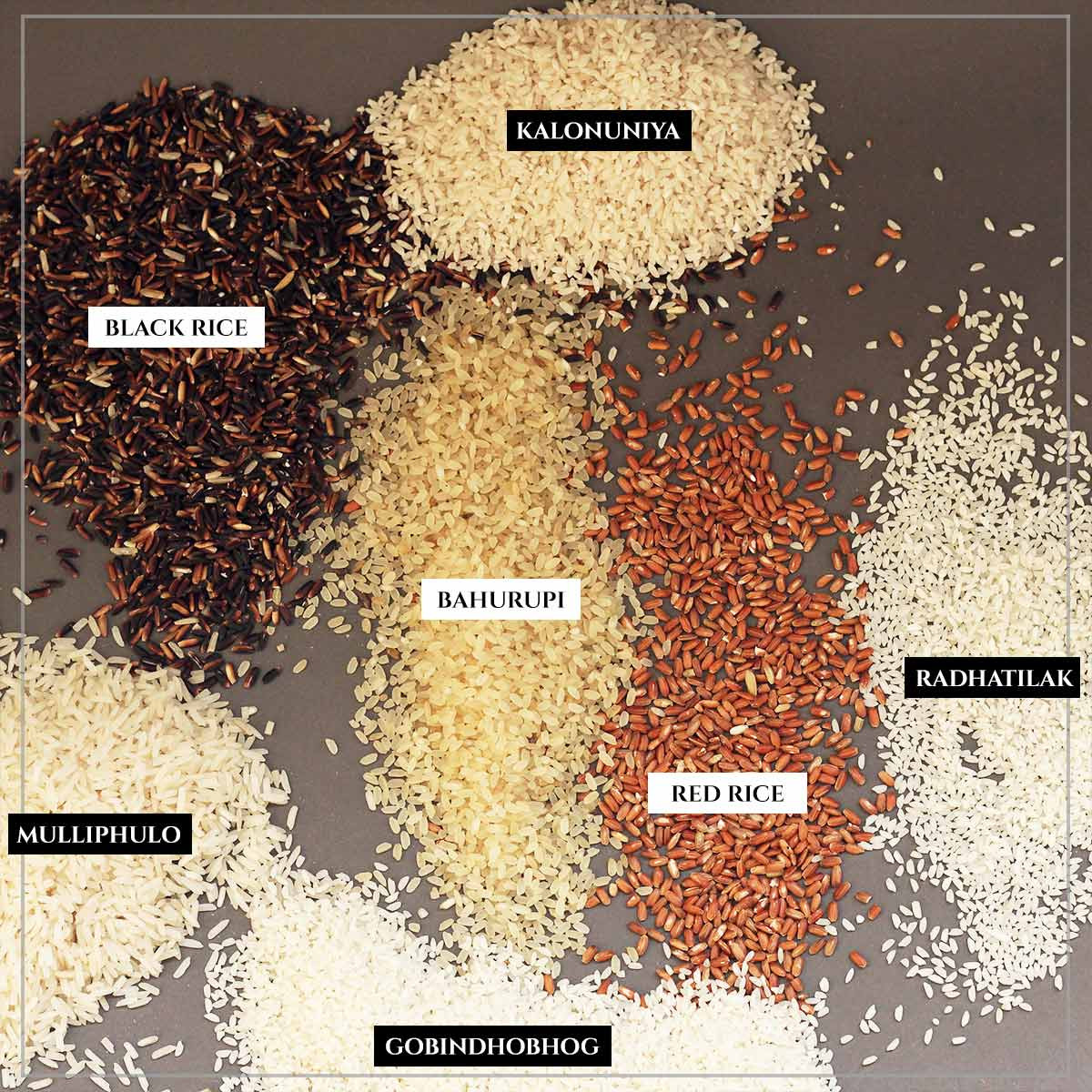Heirloom Rice Combo (7 Varieties, 250g each)- Chemical and Pesticides-free Rice