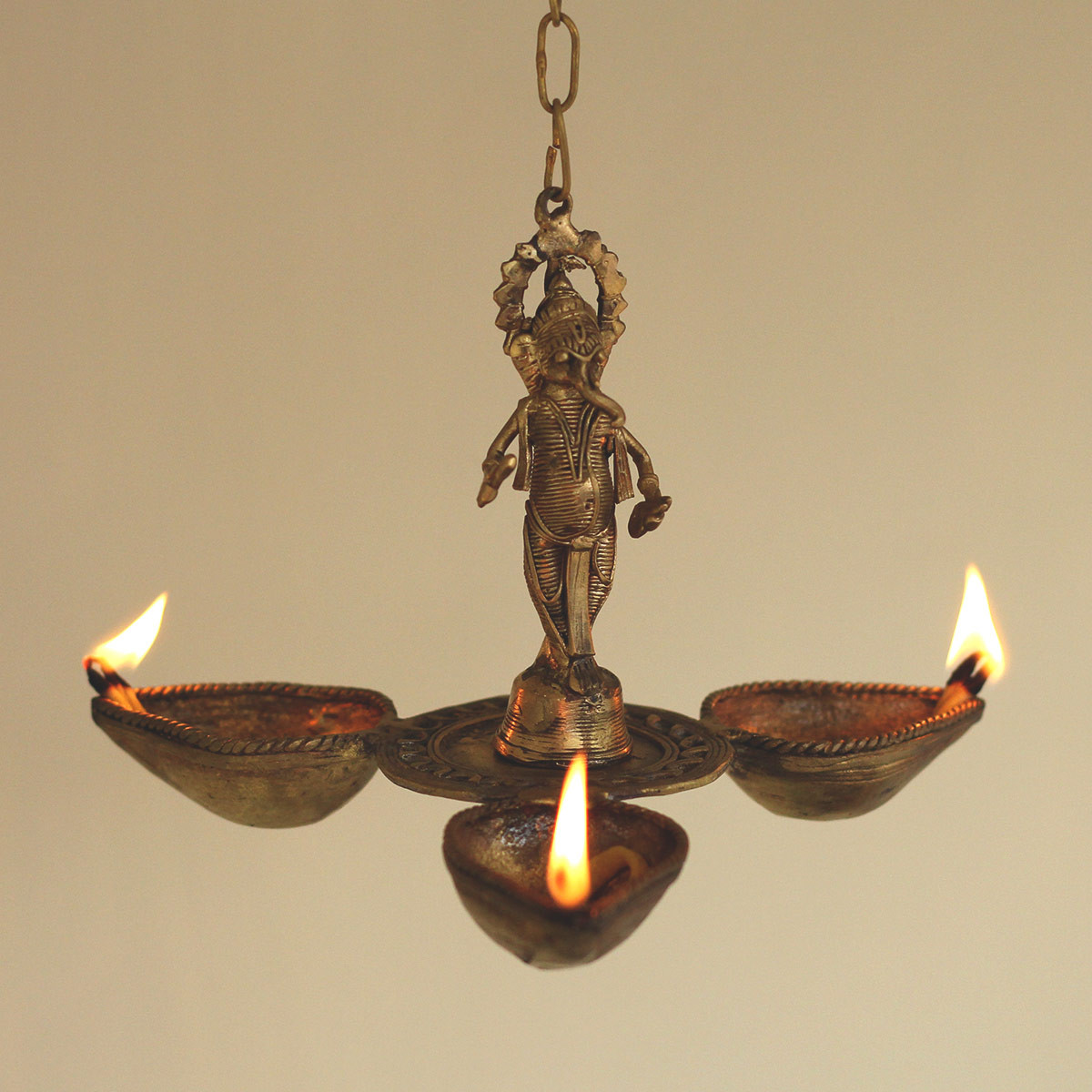 Dokra Shri Ganesh Hanging Diya