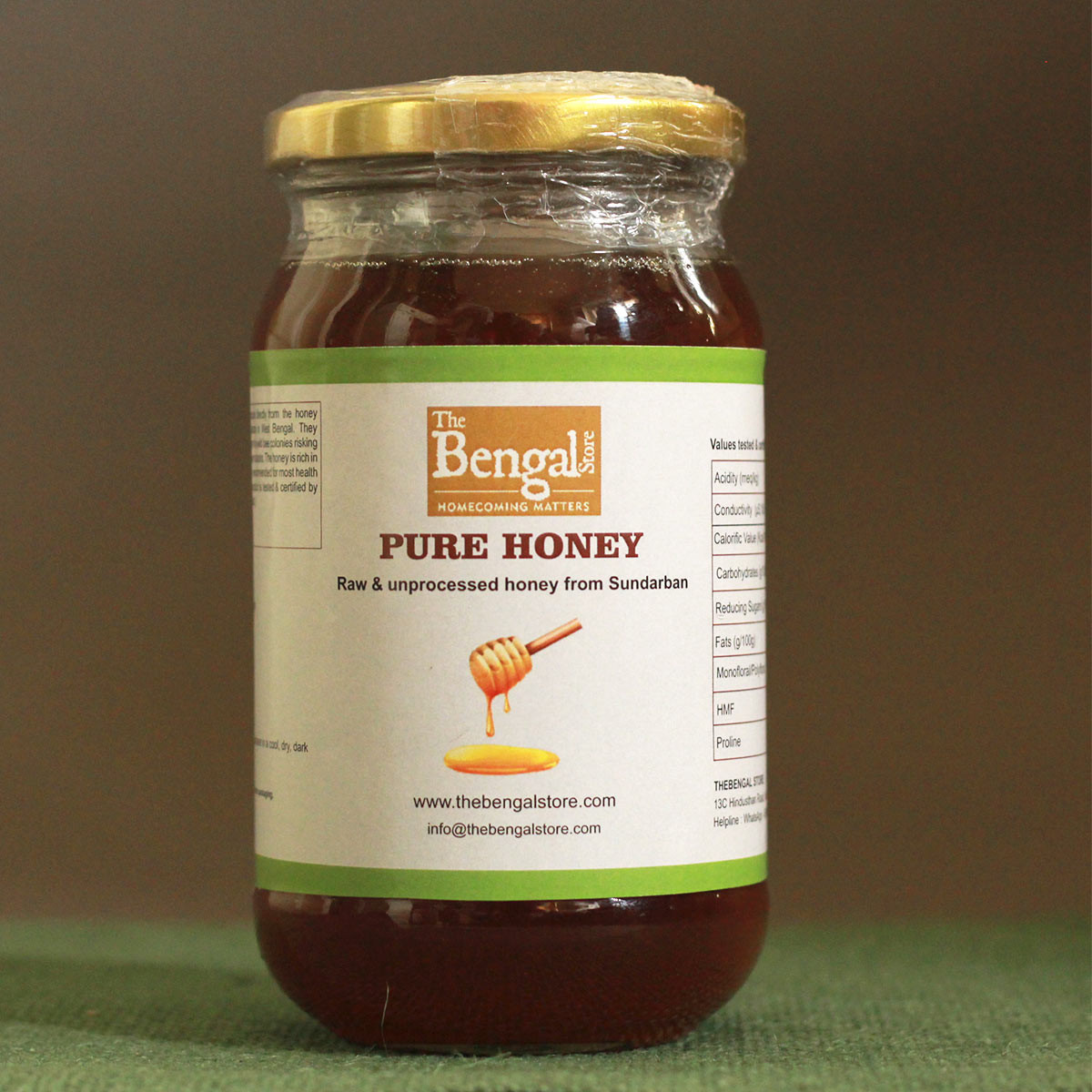 Pure Raw Sundarbans Honey (450 grams) (Available from the 15th of May 2021)