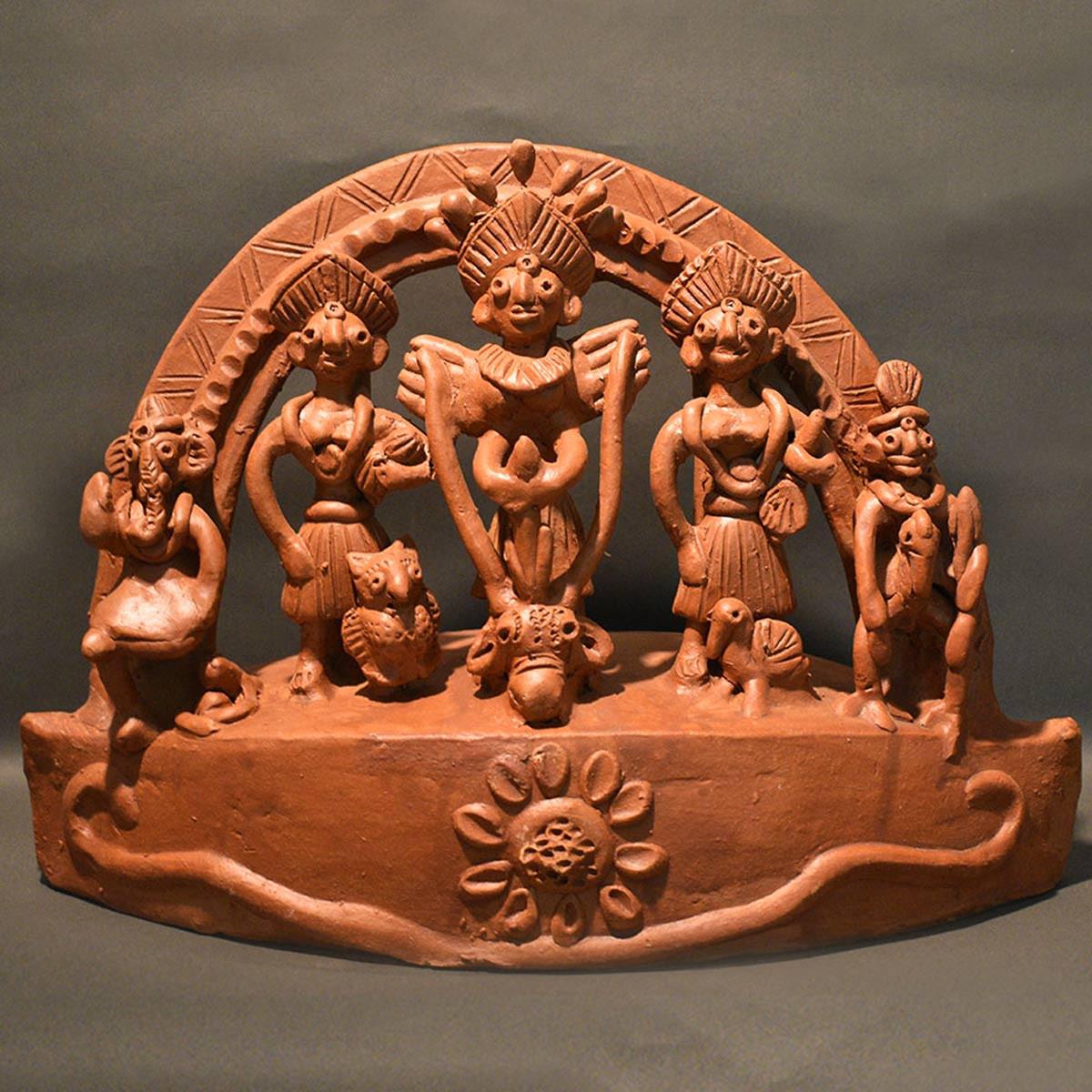 Ek-chala Terracotta Durga