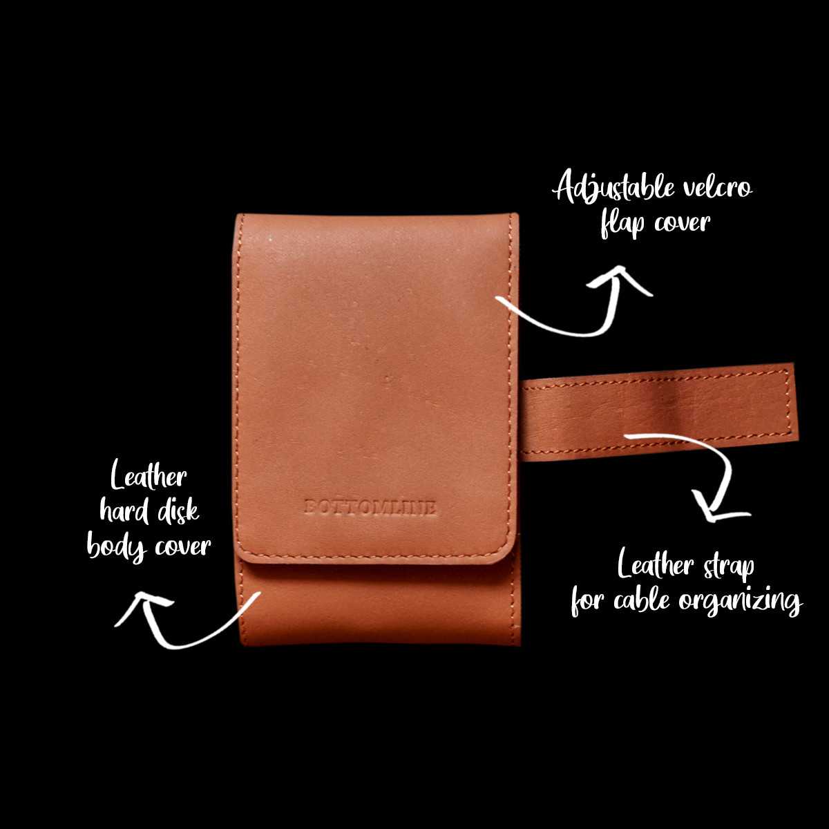 Pure Leather Hard Disk Cases