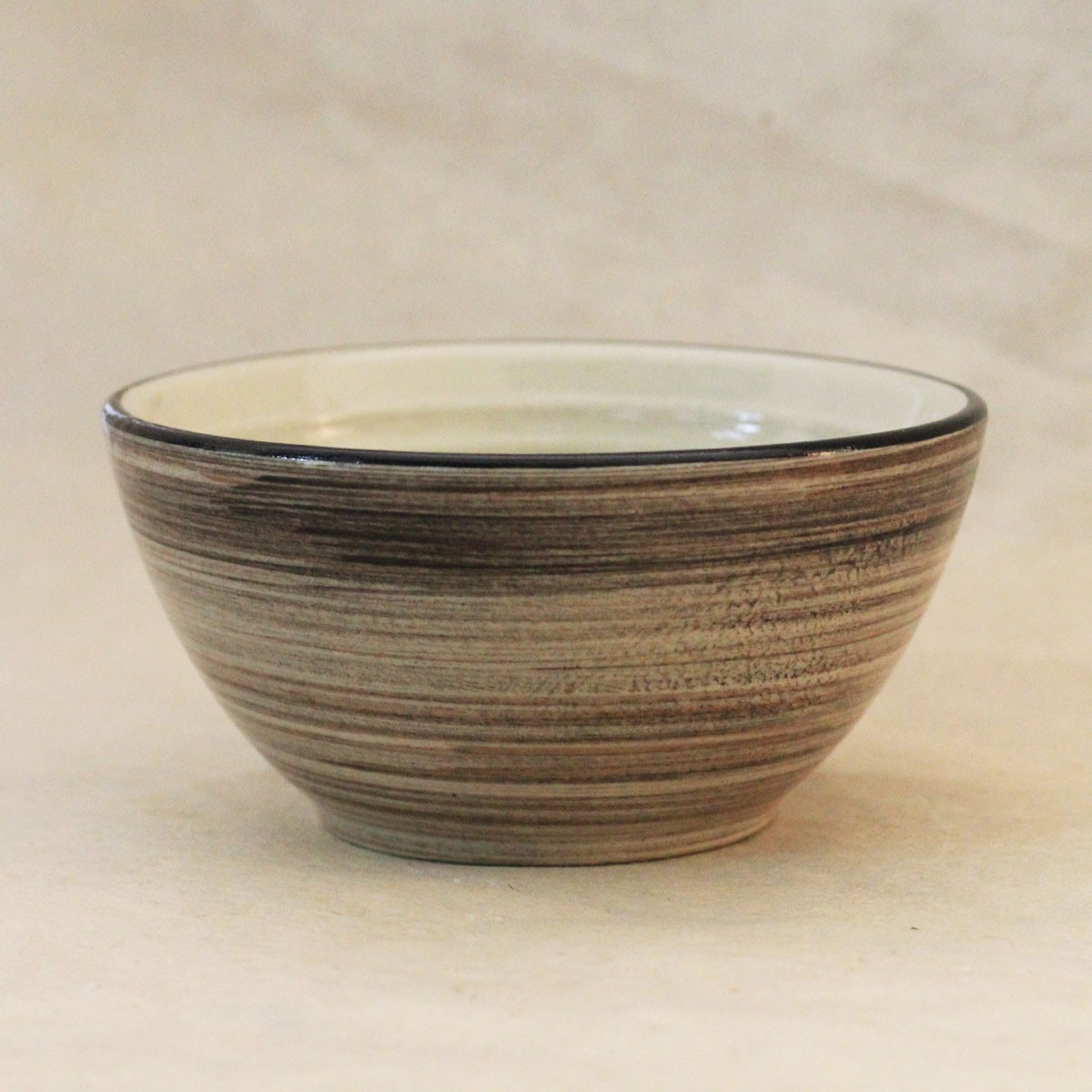 Brown Striped Bowl