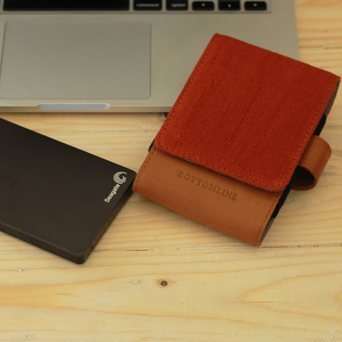 Leather and Juco Hard Disk Cases(Brown/Rust)