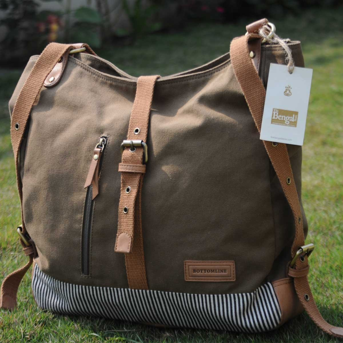 Ladies shoulder /backpack(light brown)