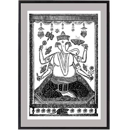19th Century Shri Ganesh Print