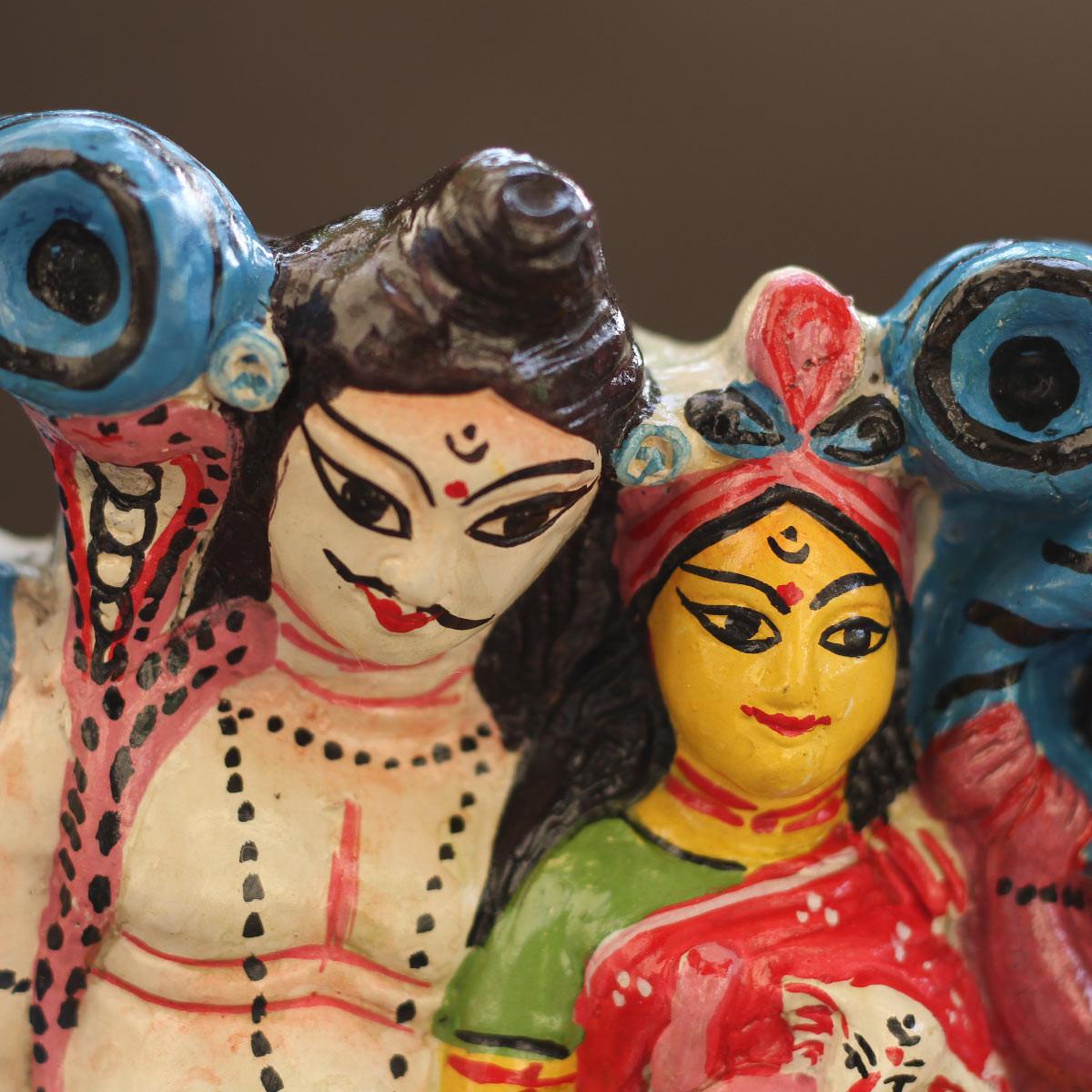Mojilpur Shiva-Parvati family